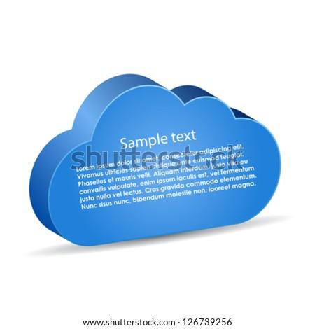 Vector information cloud - stock vector