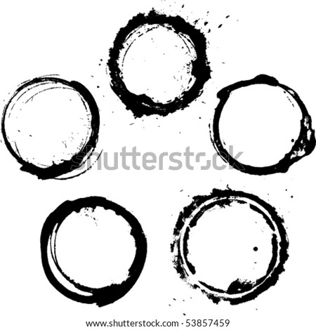 vector ink frames set - stock vector