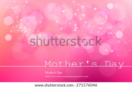 Vector inscription love on a pink background with bokeh and light. Happy mother Day Card Design. Mother's Day. Vector Blurred Soft Background. infograph  Image. Vector. Icon. - stock vector