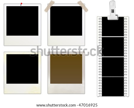 Vector instant photo frames set - more available - stock vector
