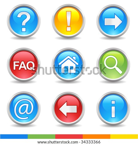vector internet glossy buttons