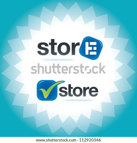 Vector Internet Store Logos, Sign, Button, Symbol - stock vector