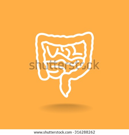 Vector intestines icon - stock vector