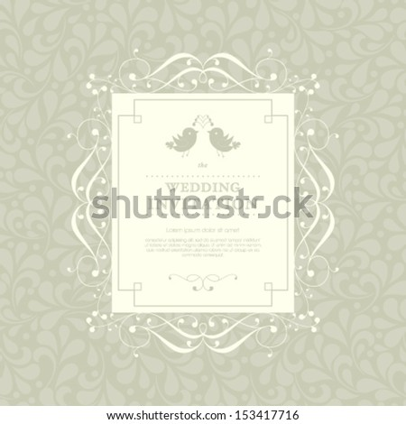 Vector invitation, anniversary card with label for your personalized text. Perfect as invitation or announcement. - stock vector