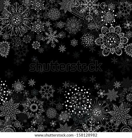 Vector invitation card flowers snowflakes stock vector 158128982 vector invitation card with flowers and snowflakes stopboris Choice Image