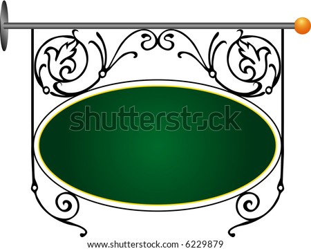 vector iron street sign for shop, restaurant etc.