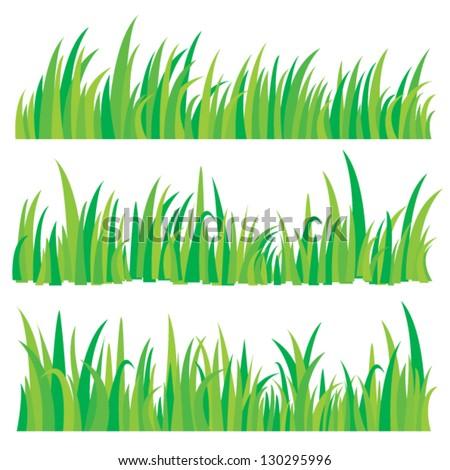 Vector is set a beautiful grass - stock vector