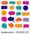 vector isolated colorful big speech bubbles set - stock vector