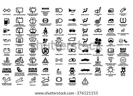 vector isolated dashboard icons description stock vekt r 376121155 shutterstock. Black Bedroom Furniture Sets. Home Design Ideas