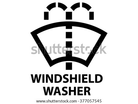 Vector Isolated Dashboard Sign Description Windshield Stock Vector