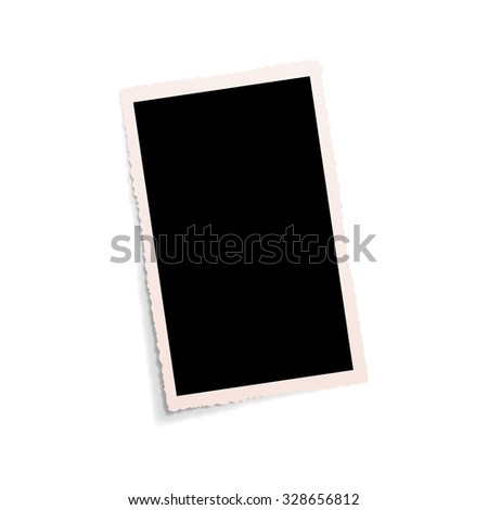 Vector isolated empty old photo - stock vector