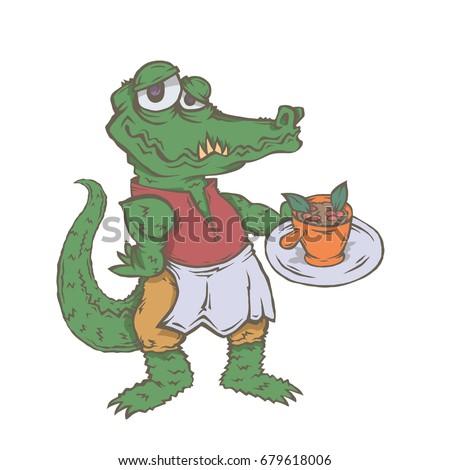 Crazy cartoon goblin vector illustration simple stock for Cuisine a crocs