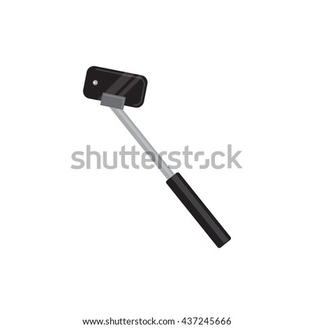 Vector Isolated Monopod Icon on white background. Monopod selfie concept - vector illustration.