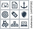 Vector isolated seo icons set #2 - stock vector