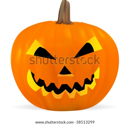 Vector Jack O'Lantern. No transparency and effects
