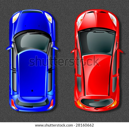 Vector japan cars. - stock vector