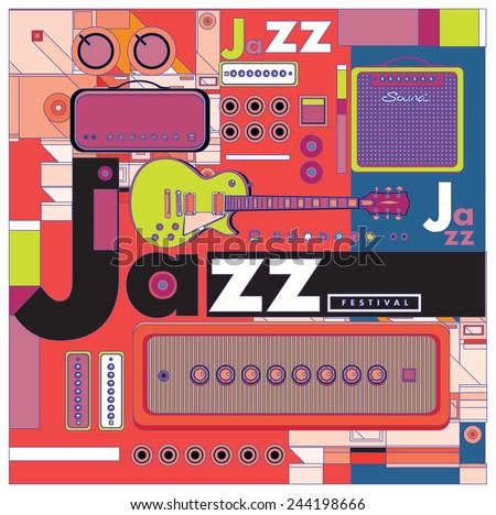 vector jazz music poster for background and layout design