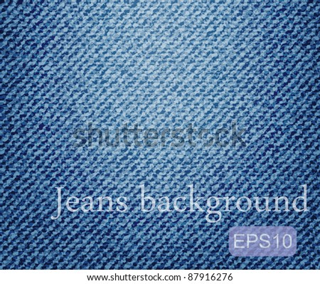 Vector jeans background - stock vector