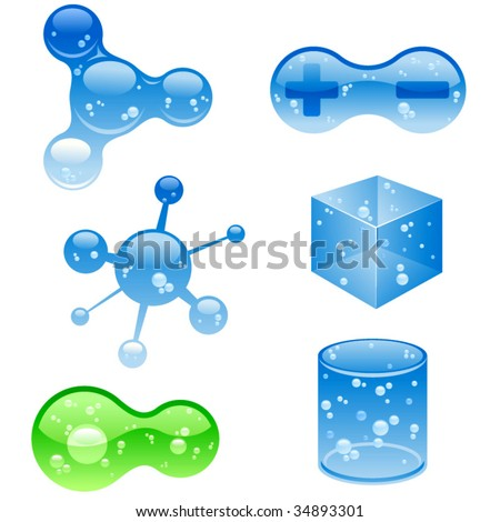 vector jelly objects. - stock vector