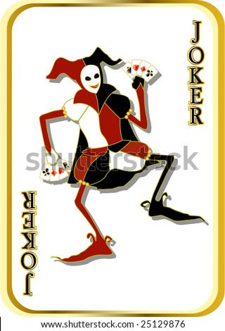 vector joker - stock vector