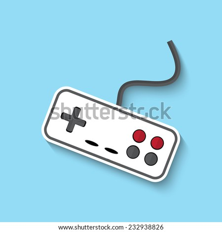 Vector joystick web flat icon. Eps 10 illustration. - stock vector