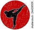 Vector Karate logo - stock vector
