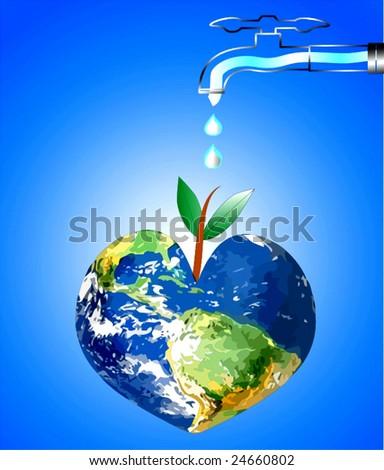 Vector Keep Earth Green - stock vector