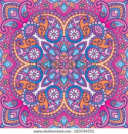 Vector kerchief paisley pattern