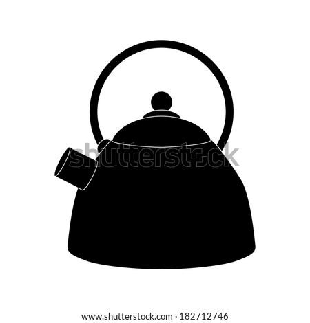 vector kettle icon - stock vector