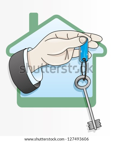 Vector. Key icon. - stock vector