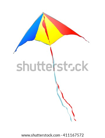 Vector kite on a white background - stock vector