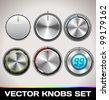 Vector Knobs Set - stock vector