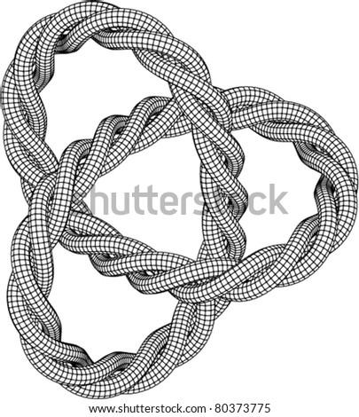 Vector Knot Illustration - stock vector