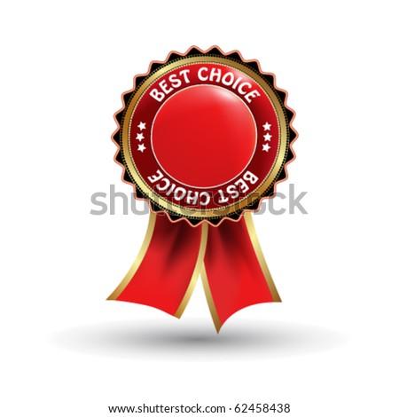 Vector label - best choice - stock vector