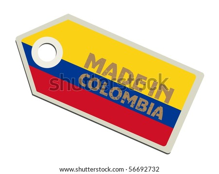 vector label Made in Colombia