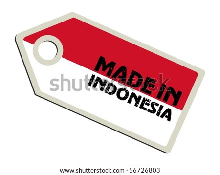vector label Made in Indonesia