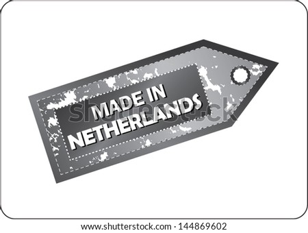 vector label made in Netherlands - stock vector