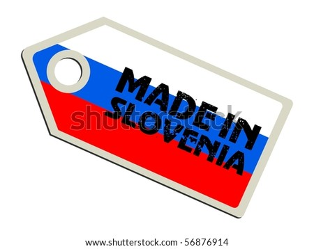 vector label Made in Slovenia