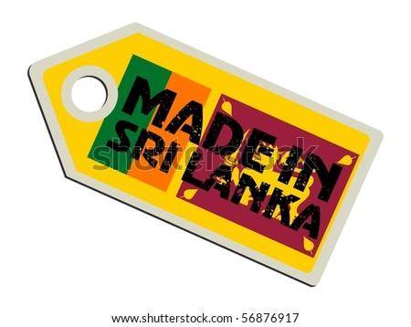 vector label Made in Sri Lanka - stock vector