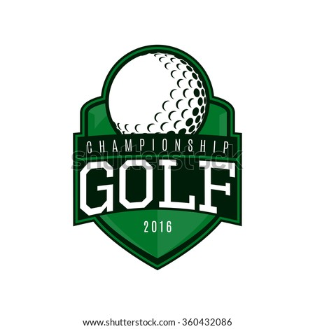 Vector label of golf. Logo of golf championship. Vector illustration.