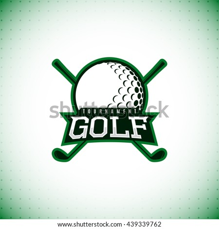 Vector label of golf tournament. Logo of golf championship. Vector illustration. - stock vector
