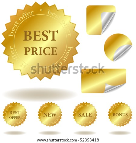 Vector labels and stickers - stock vector
