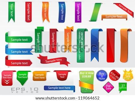 Vector Labels Collection - stock vector