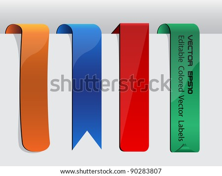 Vector Labels Collection Set - stock vector