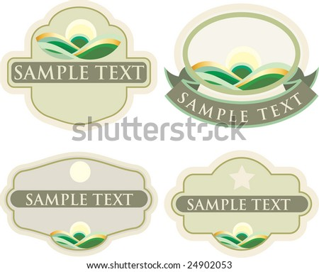 vector labels for natural products - stock vector