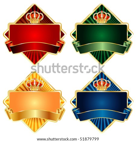 vector labels for various products like food, beverages, cosmetics etc. - stock vector