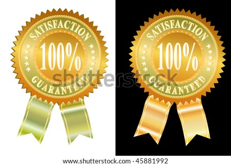 vector labels in two variations - stock vector