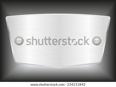 Vector Labels or Name plate with screws.Vector illustration - stock vector
