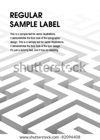 Vector Labyrinth Design - stock vector