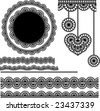 vector lace elements 1 - stock vector